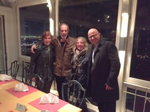 Brigitta and Herman - Dinner over Linz